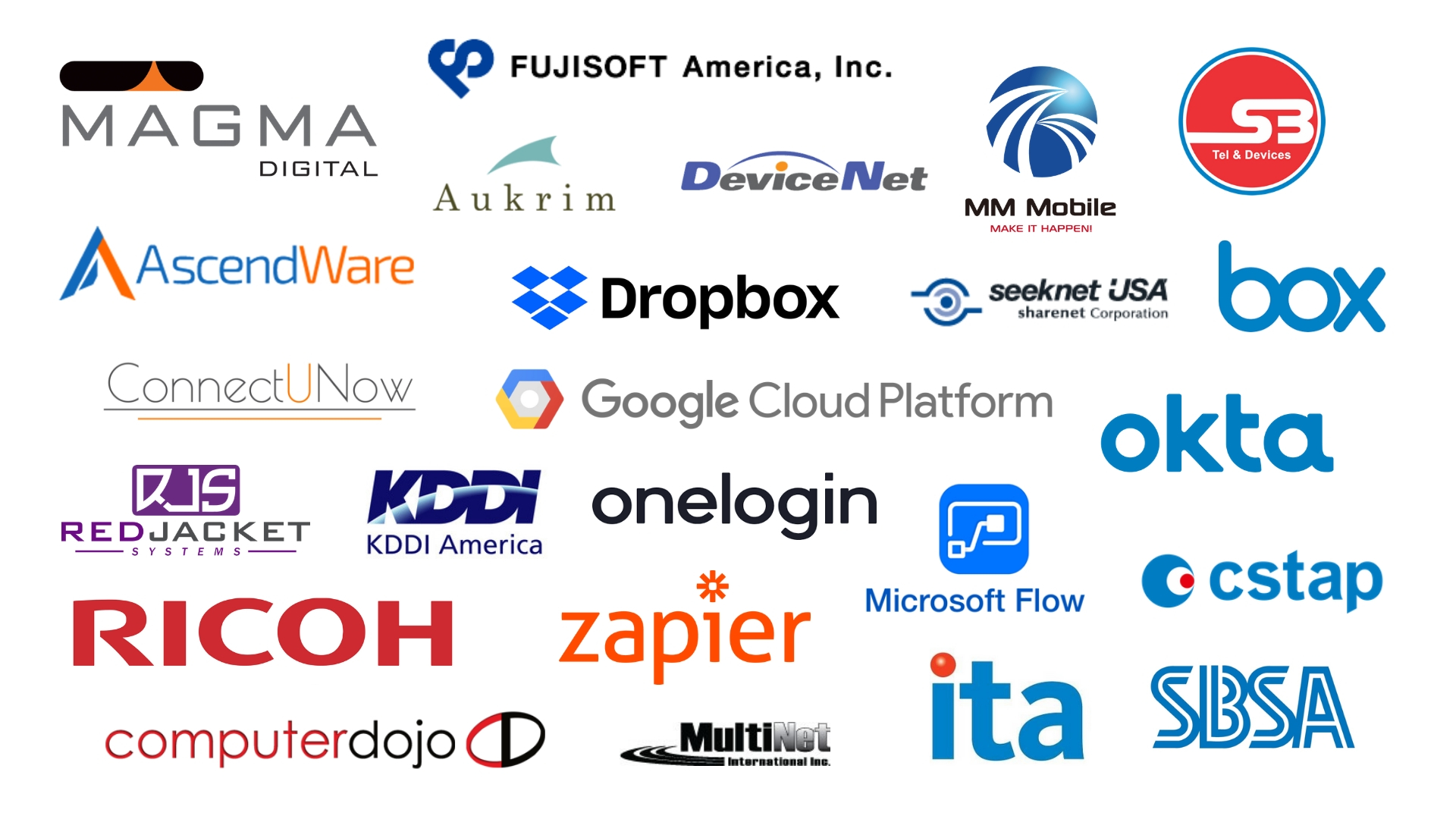 kintone partner logos