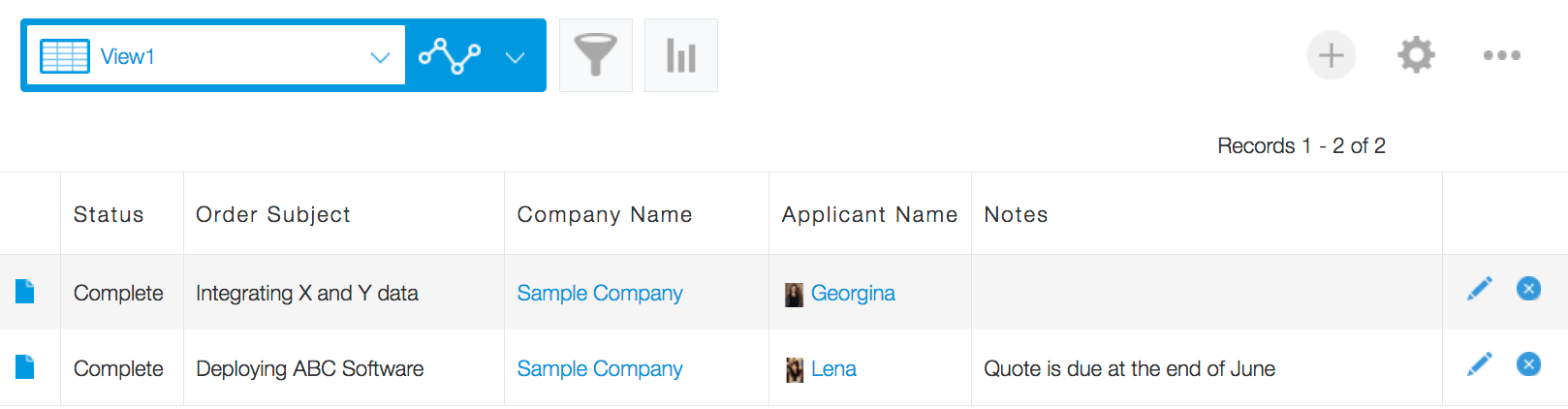 Persol Career Sample Order Placement App List View