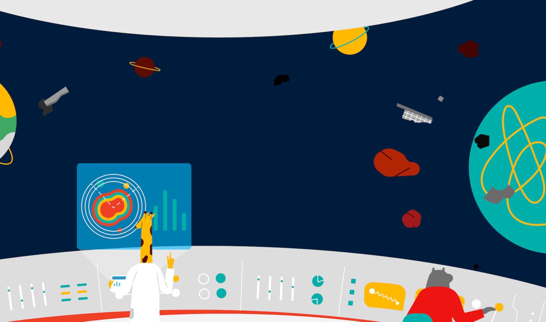 Kintone Universe Animation Video visual business app builder