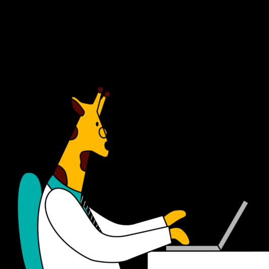 KT working on computer - Kintone