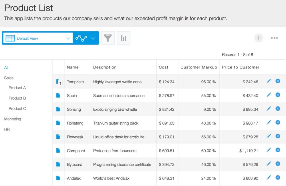 Kintone Online Database Spreadsheet Alternative Business App Product